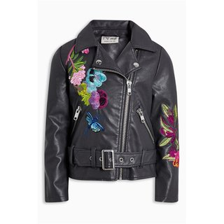 Next Bikerjacke mit Stickerei